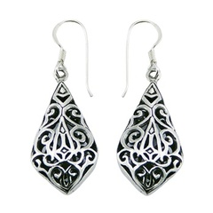 silver-dangle-earrings/convexed-kite-shaped-ajoure