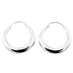 silver-hoop-earrings/classic-polished-sterling-silver