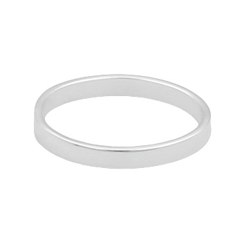 Plain stamped silver midi ring to create boho look