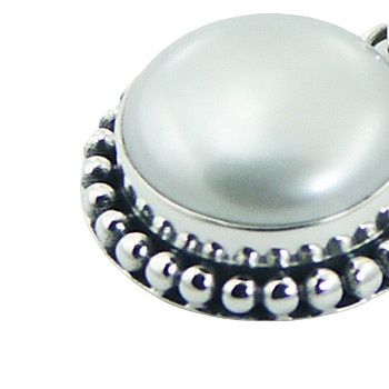 Balinese freshwater pearl silver pendant 3