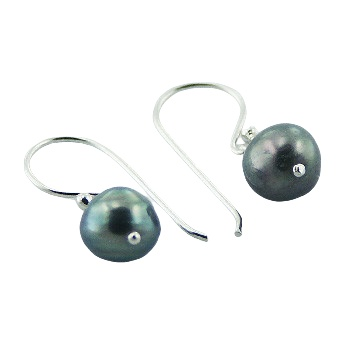Freshwater pearls silver earrings