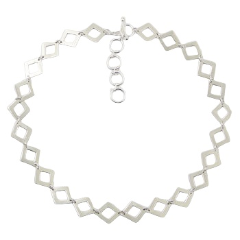 Sterling silver necklace diamond shapes