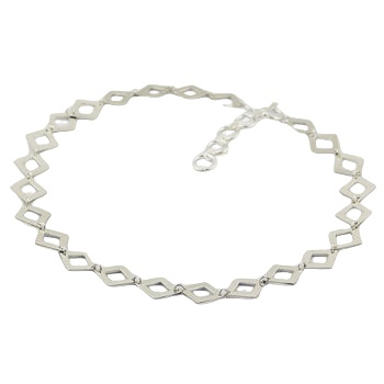 Sterling silver necklace diamond shapes 2