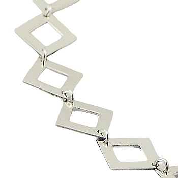 Sterling silver necklace diamond shapes 3