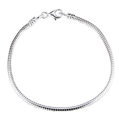 Hallmarked 925 sterling silver snake chain for charms