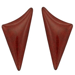 coral-stud-earrings/smooth-triangle-coral-stud