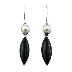 gemstone-drop-earrings/hinged-black-agate-to