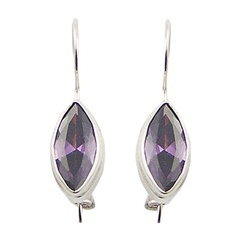 gemstone-drop-earrings/marquise-cut-cubic-zirconia