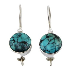 gemstone-drop-earrings/small-sterling-silver-turquoise