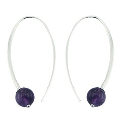 gemstone-drop-earrings/violet-amethyst-gemstone-beads