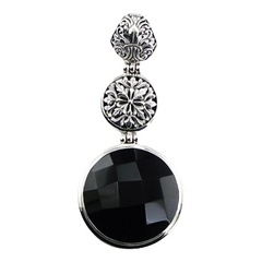gemstone-pendants/faceted-round-black-agate