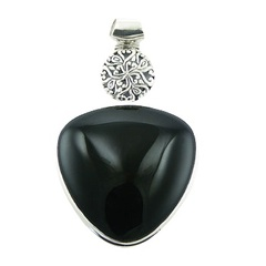 gemstone-pendants/smooth-black-agate-triangle
