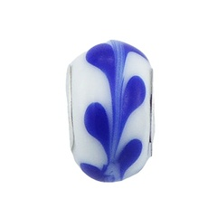 murano-glass-beads/vivid-blue-leaf-tendril