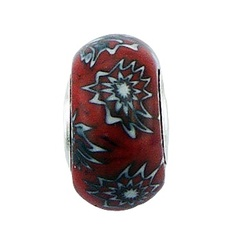 murano-glass-beads/wild-flowers-red-murano