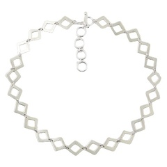 plain-silver-necklaces/open-diamond-shapes-fashionable