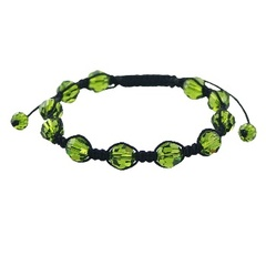 Shamballa bracelet with juicy green Swarovski crystals
