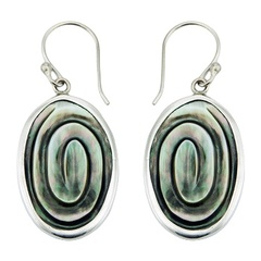 shell-dangle-earrings/handmade-green-shell-silver