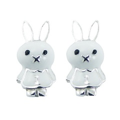 silver-enamel-earrings/cute-casted-sterling-silver