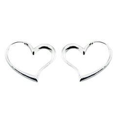 silver-hoop-earrings/lovely-floating-sterling-silver