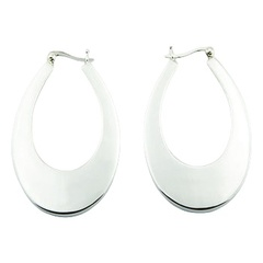 silver-hoop-earrings/ovate-tapered-sterling-silver