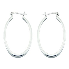 silver-hoop-earrings/shiny-oval-925-sterling