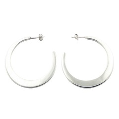 silver-stud-earrings/beveled-hoops-925-silver