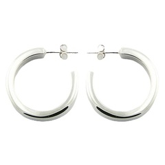 silver-stud-earrings/pretty-hoops-shiny-sterling