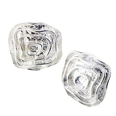 silver-stud-earrings/smoothed-flowing-squares