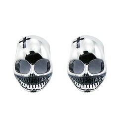 silver-stud-earrings/sterling-silver-designer-skull