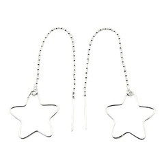 silver-threader-earrings/sterling-silver-open-star