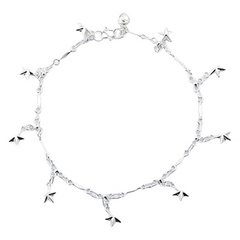 sterling-silver-anklets/twinkling-silver-star-charms