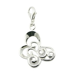 sterling-silver-charms/ajoure-silver-stylized-butterfly