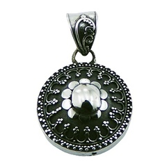 sterling-silver-pendants/handmade-antique-floral-replica