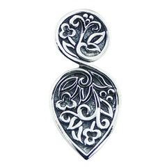 sterling-silver-pendants/highly-elegant-designer-floral