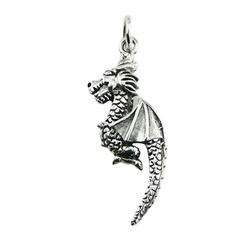 sterling-silver-pendants/ornate-sterling-silver-dragon