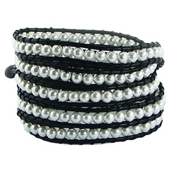 wrap-bracelets/imitation-pearls-on-black