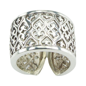 Ajoure 1001 night cylinder silver ring