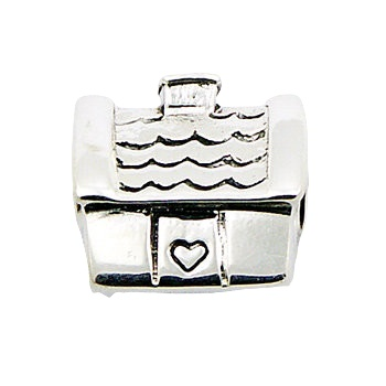 Cosy sweet loving home silver bead