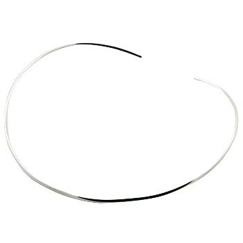 Ultra thin silver choker necklace