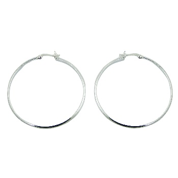Silver classic hoop earrings
