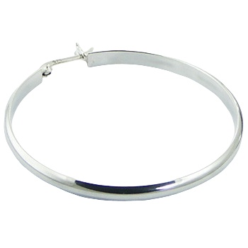 Silver classic hoop earrings 2