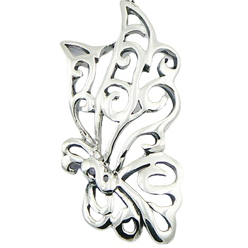 Ajoure butterfly sterling silver charm 2