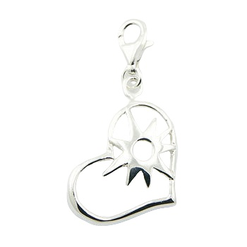 Sunshine of my life silver charm pendant