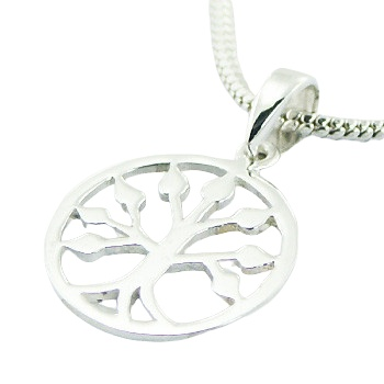 Sterling silver tree of life pendant, 0.6 inches