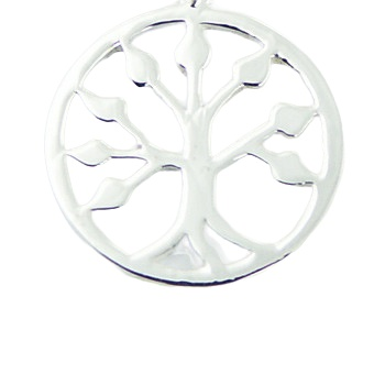 Sterling silver tree of life pendant, 0.6 inches 2