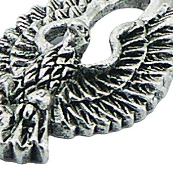 Antiqued and detailed sterling silver eagle pendant, 1 inch 2