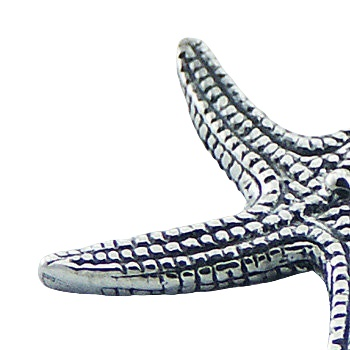 Detailed sterling silver starfish pendant 2